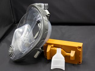 mask adapter tool, part, snorkel