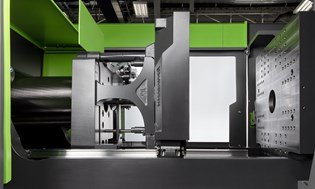 tie-bar-less injection molding machine