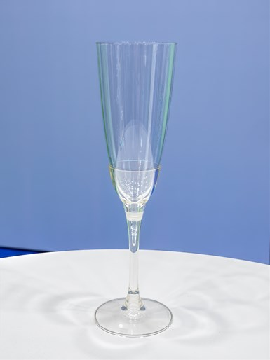 Nissei solved the problem of molding thin-wall, deep-draw parts like this two-piece champagne flute from PLA bioresin.