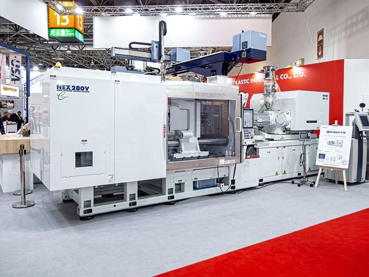 Nissei's new NEX280V-71E all-electric, Industry 4.0-ready press.