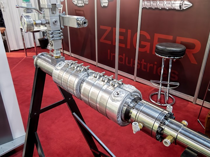 Zeiger Industries' latest LSR conversion packaging includes quick-disconnect water jackets and a pump connection without threads that can lock up if exposed to resin leaks.