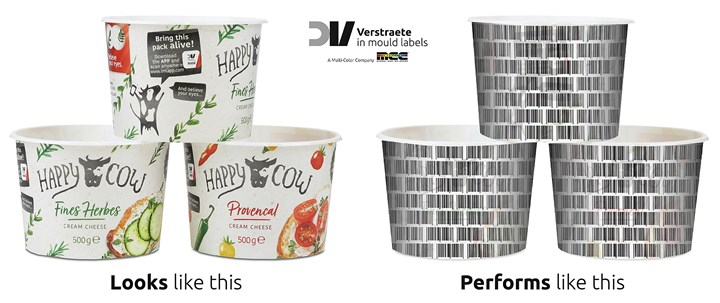 "Digital watermarks are a barcode that can be applied to an in-mold or sleeve label (or the part surface) with ""pixel-scattering,"" which makes the code imperceptible to the naked eye"