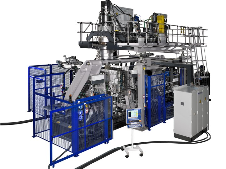 Kautex KBS241 accumulator-head machine, an automotive-oriented model, was used for the CPV liner development.