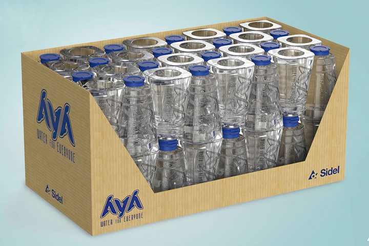 AYA's conical design helps minimize cardboard secondary and tertiary packaging.