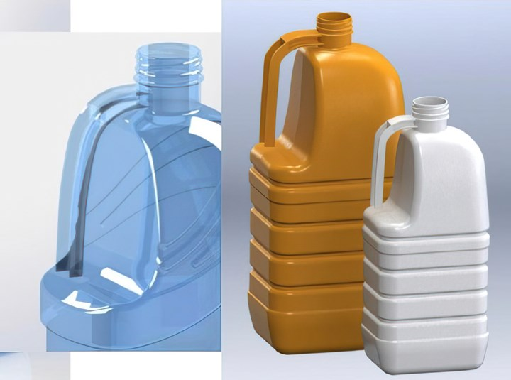 Stretch-blown PET containers comparable to extrusion blown jugs can be produced with novelISBM technology from Priority Plastics.