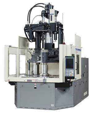 Vertical Injection Molding Machine Offers Lower Profile