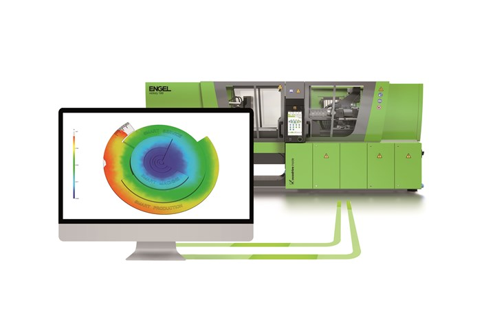 Smarter machines: A trend to watch is integration of mold-filling simulation with injection molding process control. (Photo: Engel)