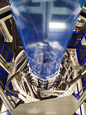 新型生产线生产27层吹塑薄膜