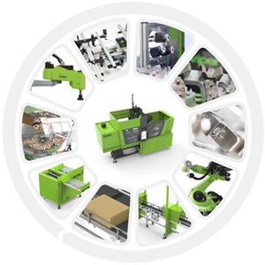 picture showing different automation processes in injection molding