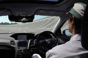 Honda automated driving test car