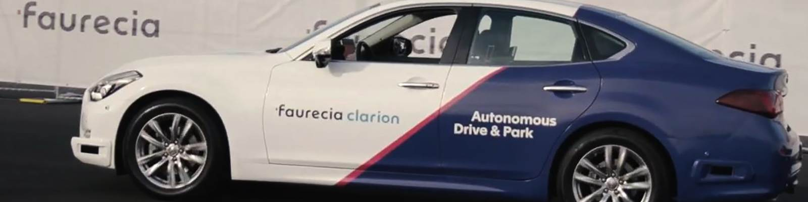 Faurecia's valet technology allows users to remotely park and summon their cars