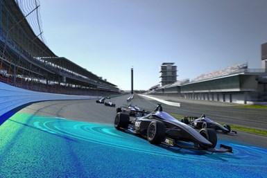 Autonous race car rendering