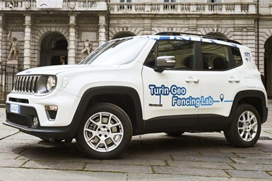 Jeep Renegade 4xe plug-in hybrid with geofencing technology.