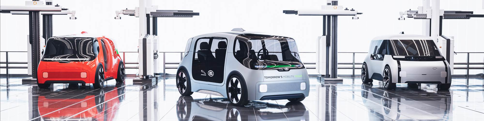 Jaguar Land Rover autonomous shuttle concept vehicles