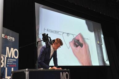 Klaus Busse sketching