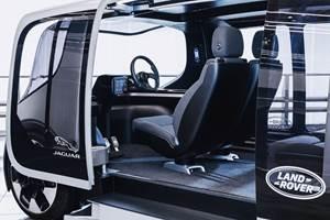 Jaguar Land Rover autonomous shuttle concept vehicles
