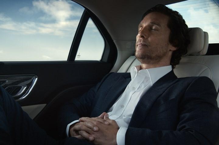 McConaughey in a Lincoln