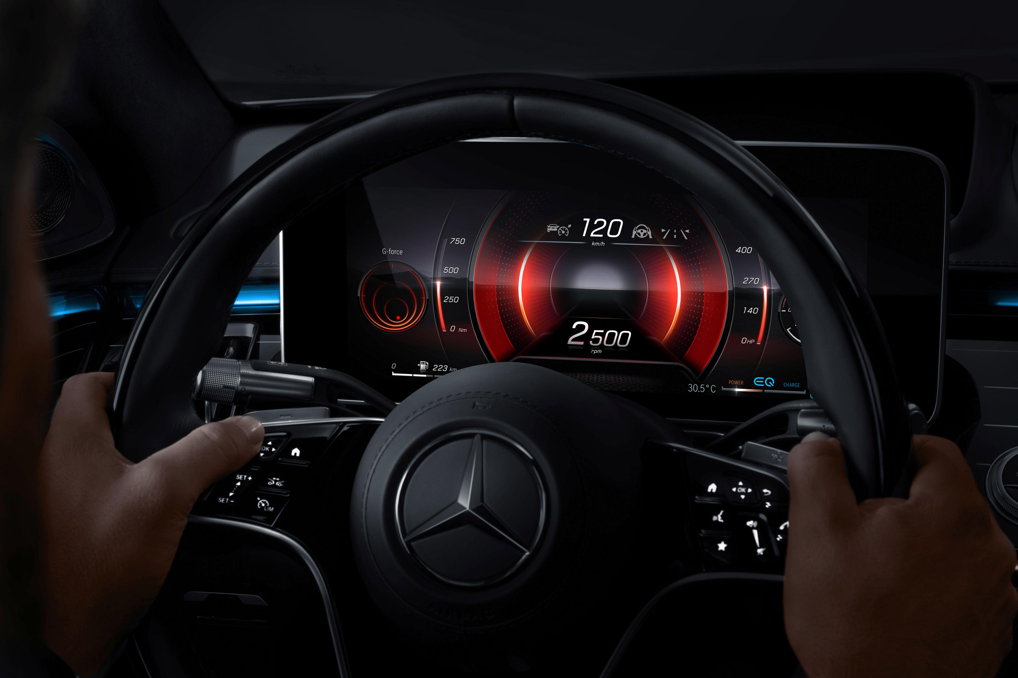 Next-generation digital instrument cluster in 2021 Mercedes S-Class