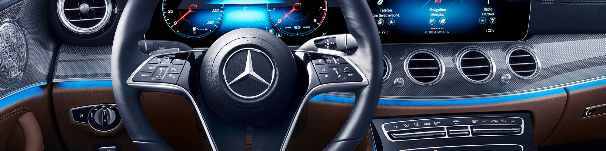 Mercedes touch sensitive steering wheel with enhanced capabilities