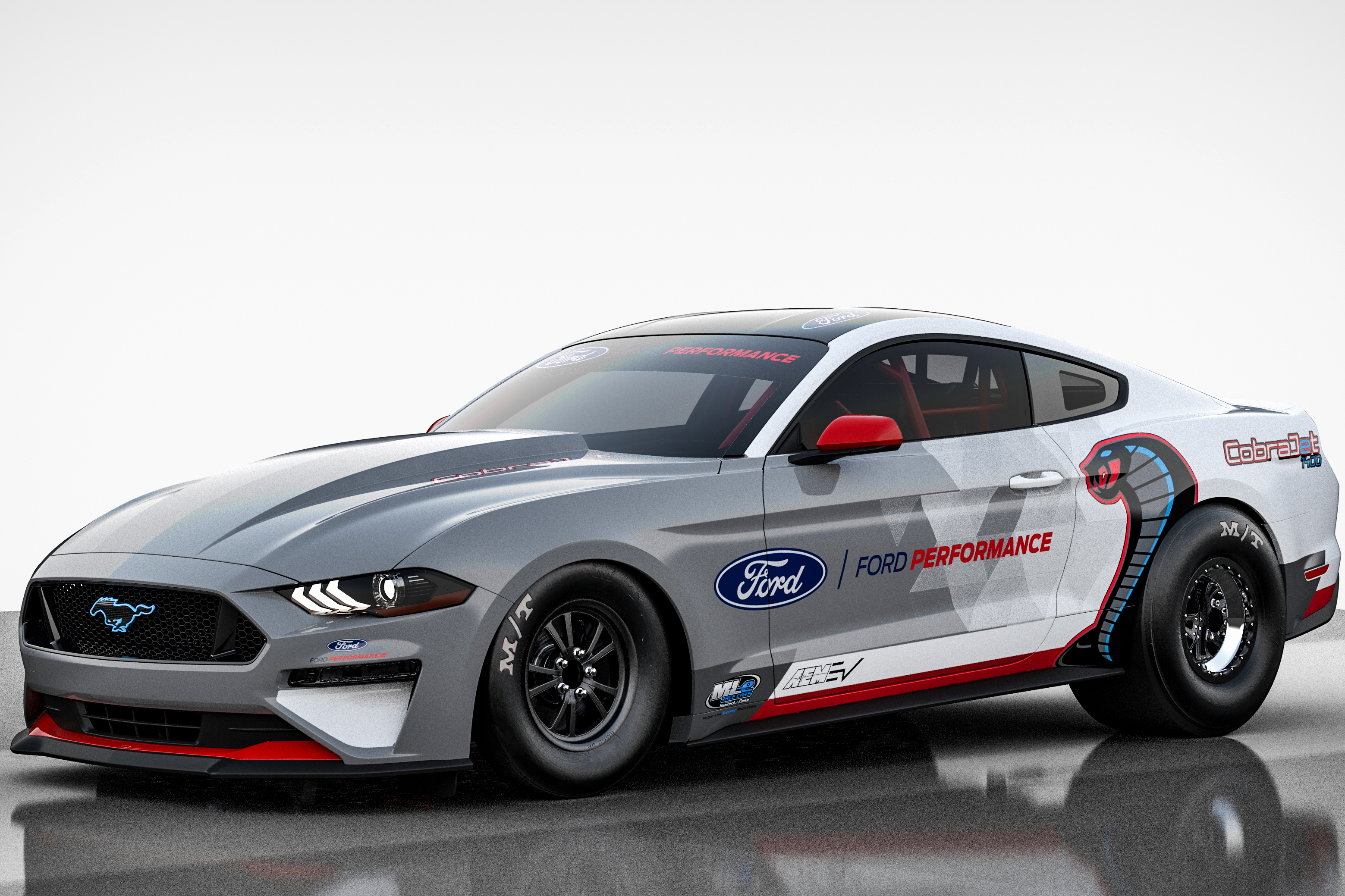 Ford Mustang Cobra Jet 1400 electric-powered drag racing car