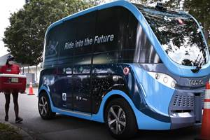 Autonomous Shuttles Put to Work in Florida to Transport COVID-19 Tests