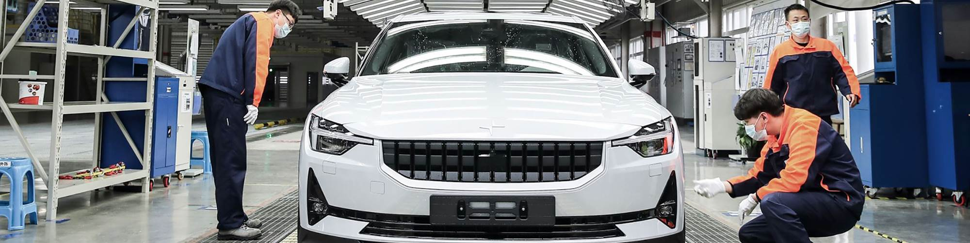 Production of the Polestar 2 electric sedan begins in China as the country resumes manufacturing after shutdowns from the coronavirus