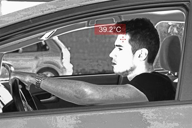 Displaying the temperature of driver
