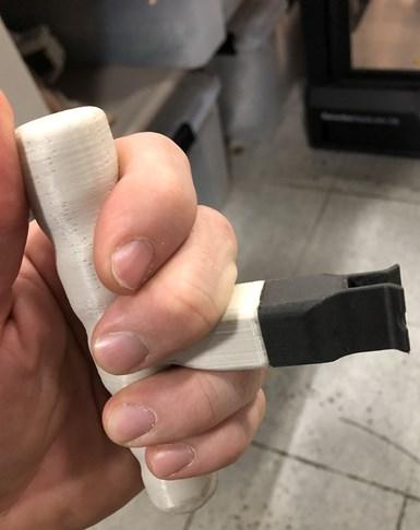 3d printed t-handle tool at GM