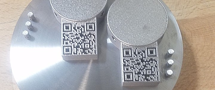 metal 3d printed parts with QR codes