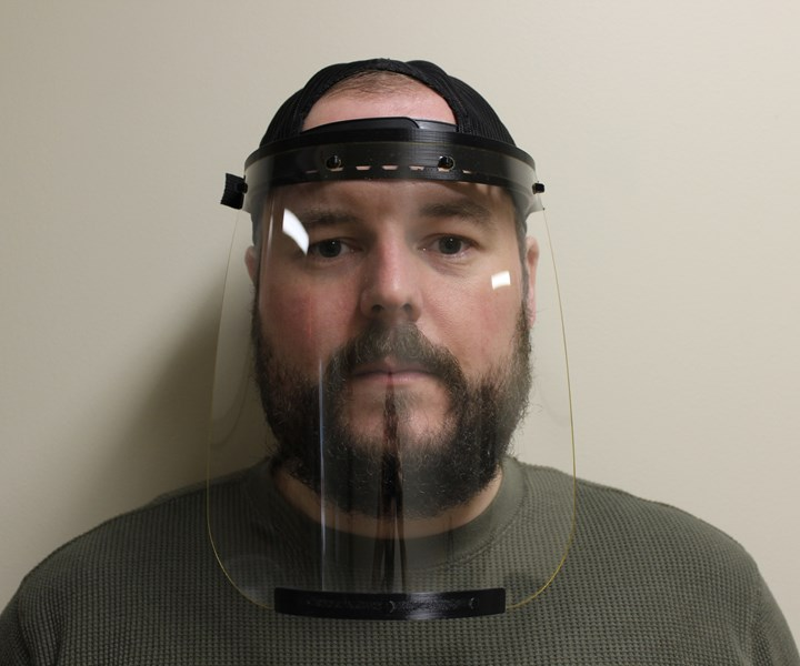 Additive Insights face shield prototype