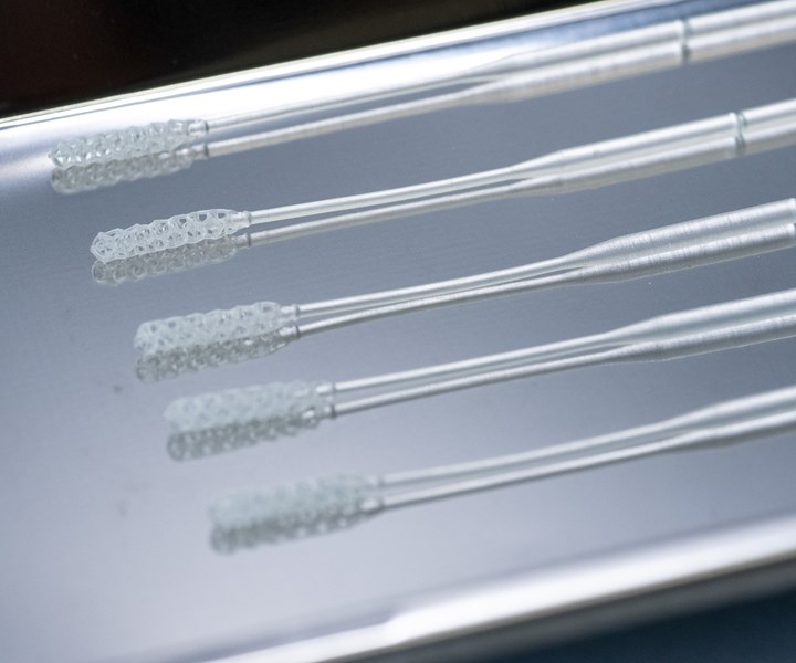 3D printed test swabs COVID