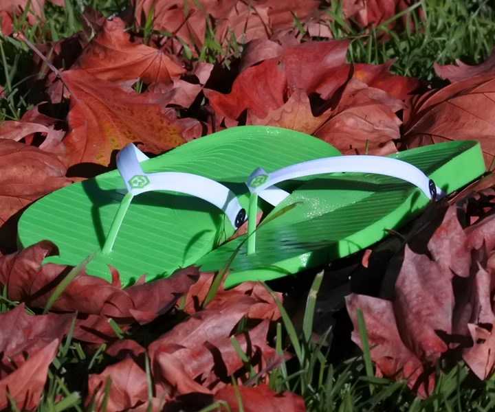 retraction footwear 3D printed flip flops