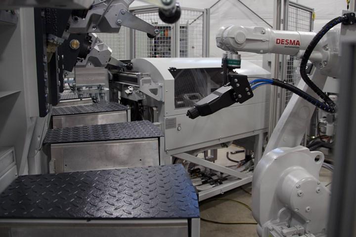 robot and desma injection molding machine