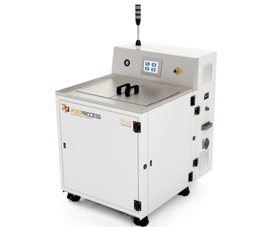 Automated postprocess Demi resin removal solution.