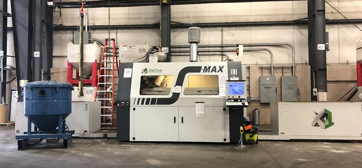 exone S-max sand 3d printer at Humtown Additive