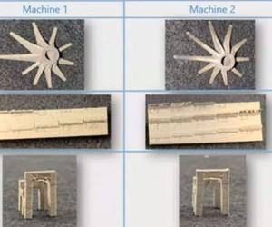 Cumberland Additive Machine 1, Machine 2 comparison of geometric accuracy