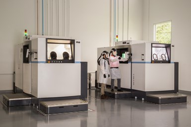 Two of Sintavia's M400 printers at its Hollywood, Florida, advanced manufacturing facility.