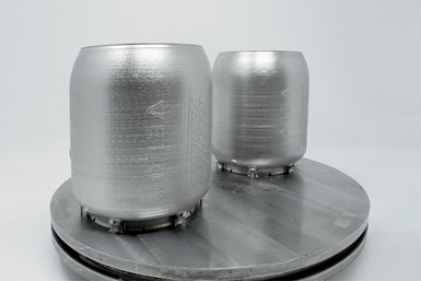3D-printed turbine combustors, close-up