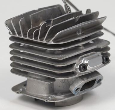 engine cylinder made via casting