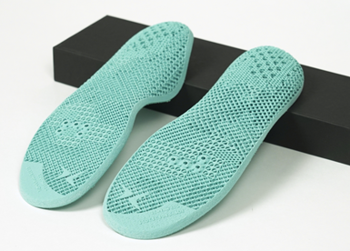 TPU insoles 3D printed by EOS