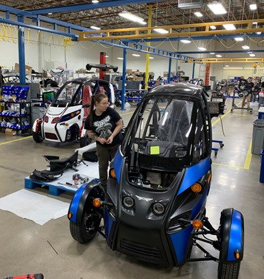 The FUV is made in Arcimoto's factory in Eugene, Oregon