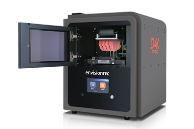 The D4K Pro is compatible with all EnvisionTec DLP resins for the dental industry.