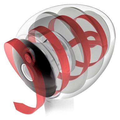 the helical transmission line inside the Hylixa speaker