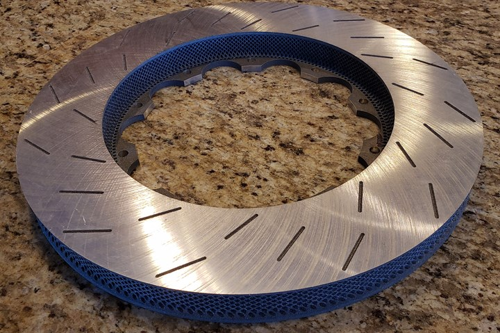 3d printed metal matrix composite brake rotor
