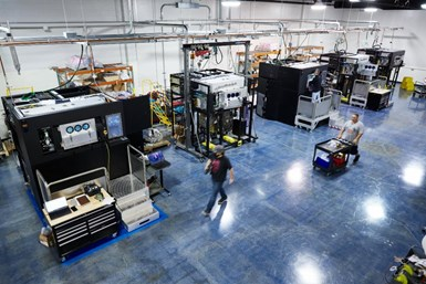 Velo3D's manufacturing facility in Campbell, California, where final assembly and test takes place for all Sapphire 3D metal printers