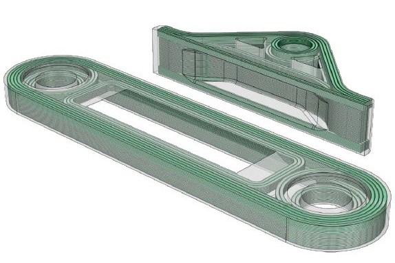 3d printed fiber reinforced component