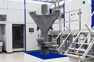 Selective laser melting (SLM) was used to produce this main component of a bizjet nose landing gear, marking a world first for a part of this size.
