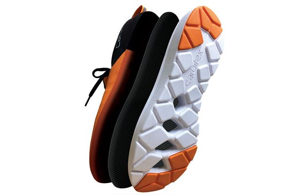 Flexible carbon fiber plates enable high-performance footwear image