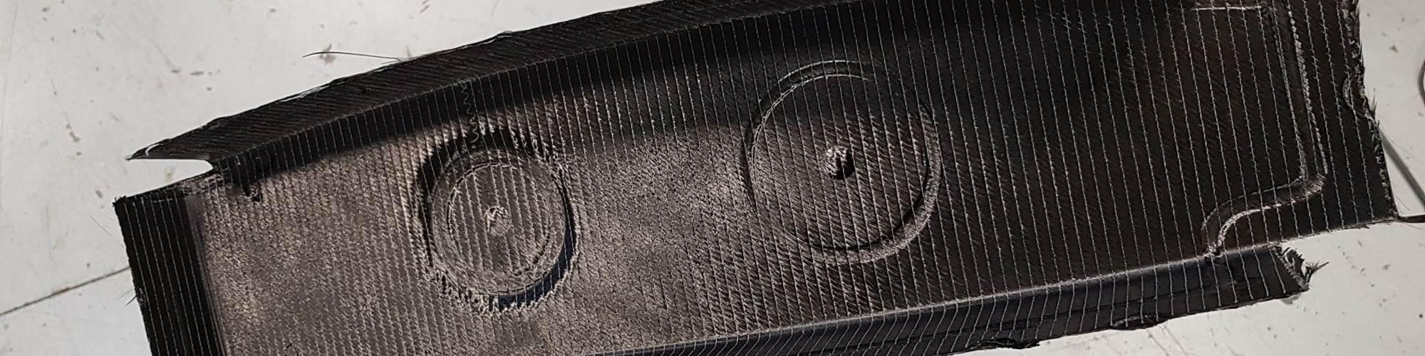 compression molded composite stringer