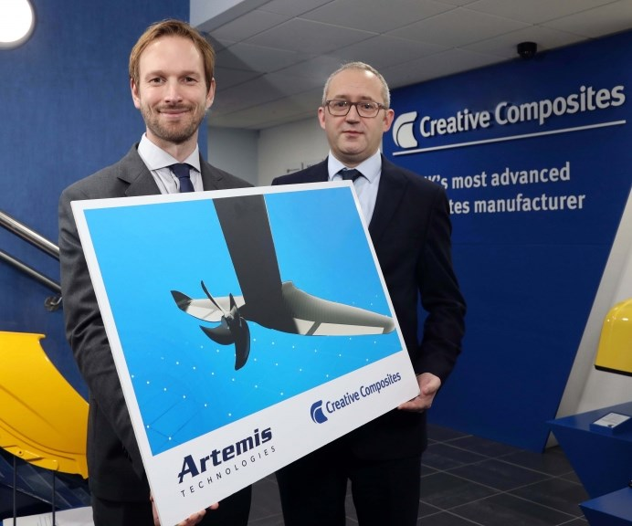 Artemis Technologies and Creative Composites collaborate on composites-intensive eFoiles